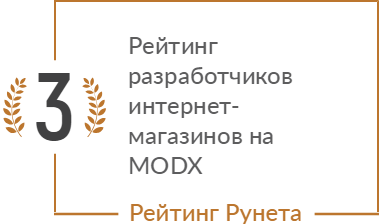 Рейтинг разработчиков интернет-магазинов на MODX в нижнем сегменте
