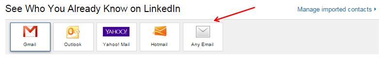 Выберите Any Email