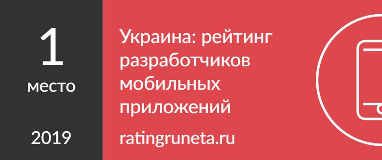Украина: рейтинг разработчиков мобильных приложений