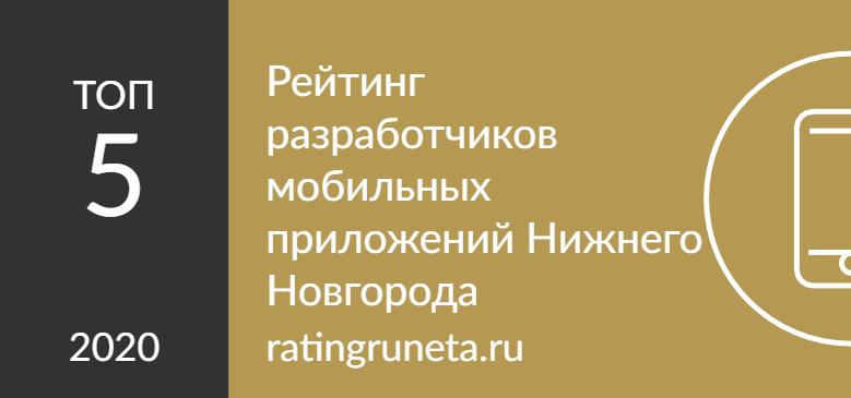 Рейтинг разработчиков мобильных приложений Нижнего Новгорода