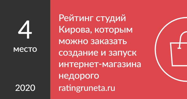 Рейтинг студий Кирова, которым можно заказать создание и запуск интернет-магазина недорого