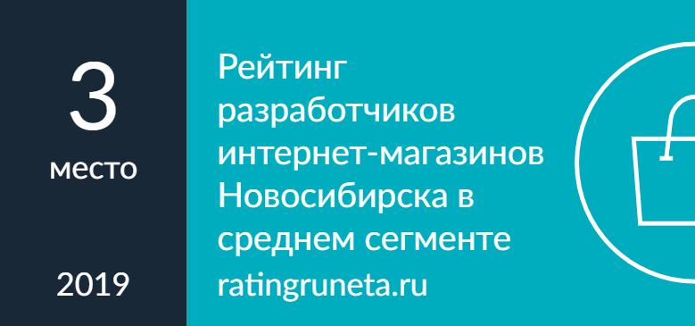 Рейтинг разработчиков интернет-магазинов Новосибирска в среднем сегменте