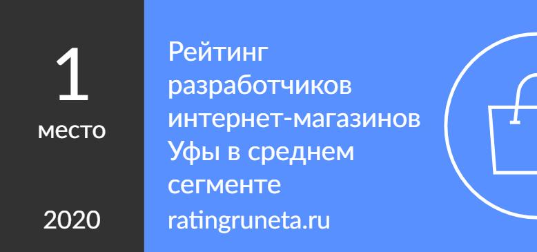 Рейтинг разработчиков интернет-магазинов Уфы в среднем сегменте