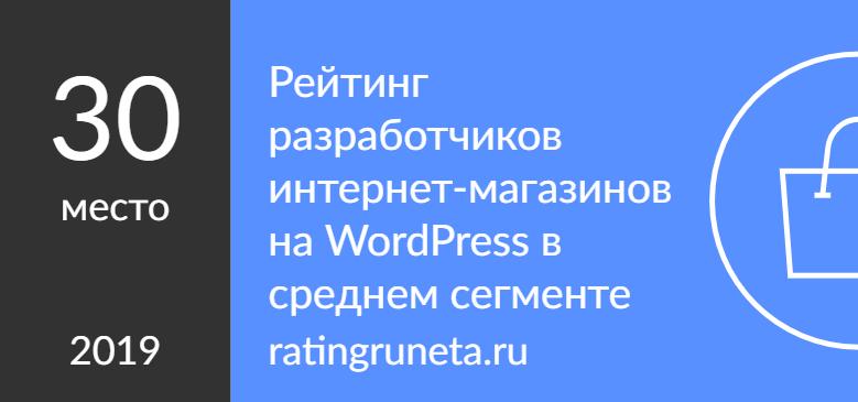 Рейтинг разработчиков интернет-магазинов на WordPress в среднем сегменте
