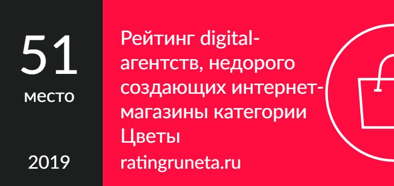Рейтинг digital-агентств, недорого создающих интернет-магазины категории Цветы