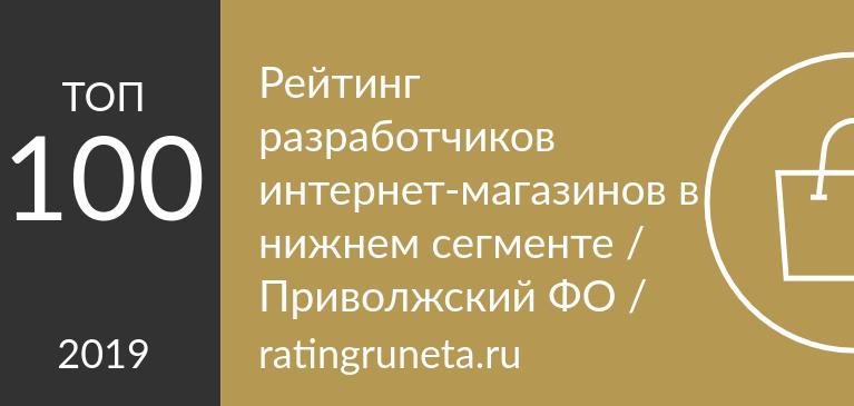 Рейтинг разработчиков интернет-магазинов в нижнем сегменте / Приволжский ФО /