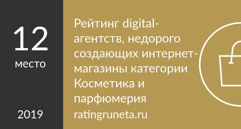 Рейтинг digital-агентств, недорого создающих интернет-магазины категории Косметика и парфюмерия