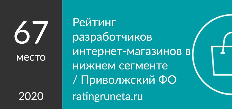 Рейтинг разработчиков интернет-магазинов в нижнем сегменте / Приволжский ФО