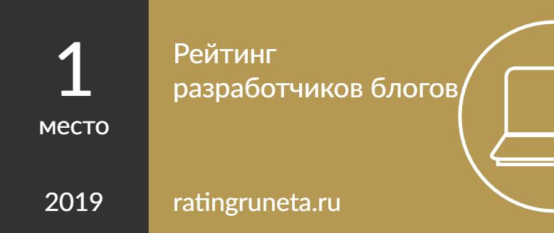 Рейтинг разработчиков блогов