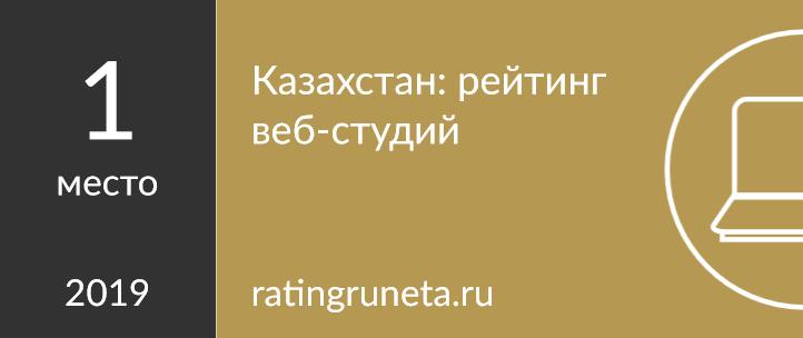 Казахстан: рейтинг веб-студий
