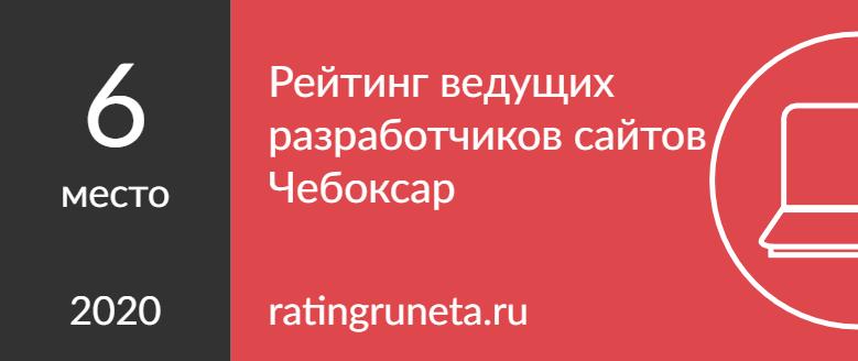 Рейтинг ведущих разработчиков сайтов Чебоксар