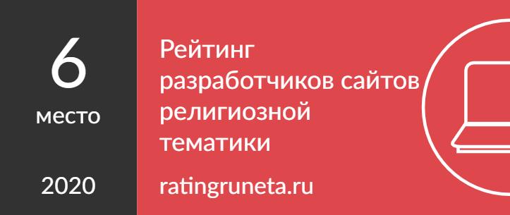 Рейтинг разработчиков сайтов религиозной тематики