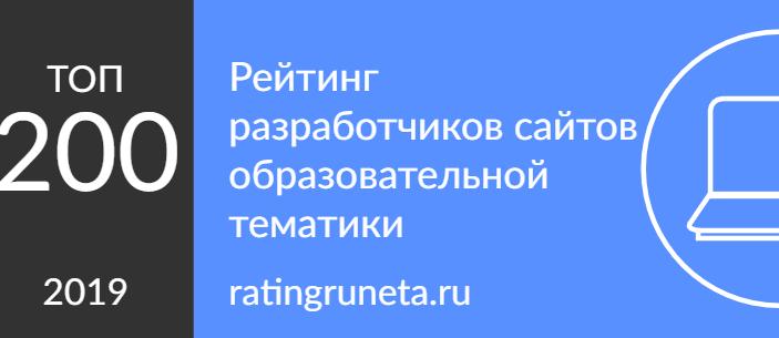 Рейтинг разработчиков сайтов образовательной тематики