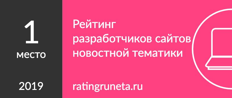 Рейтинг разработчиков сайтов новостной тематики