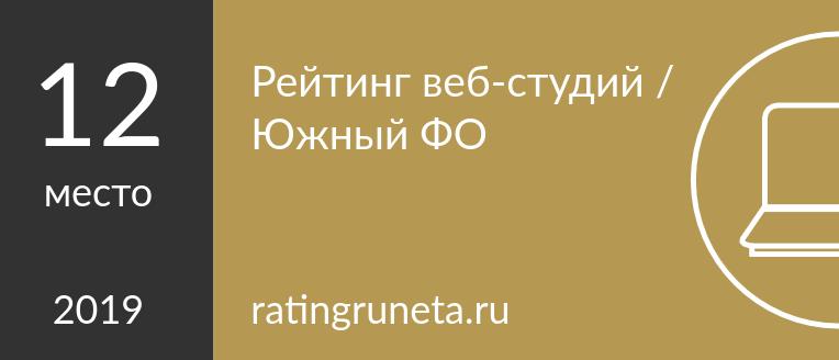 Рейтинг веб-студий / Южный ФО