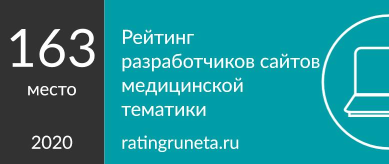 Рейтинг разработчиков сайтов медицинской тематики