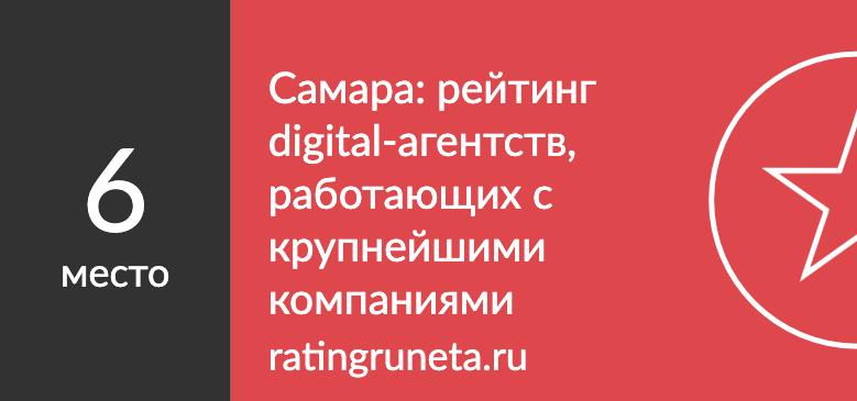 Самара: рейтинг digital-агентств, работающих с крупнейшими компаниями