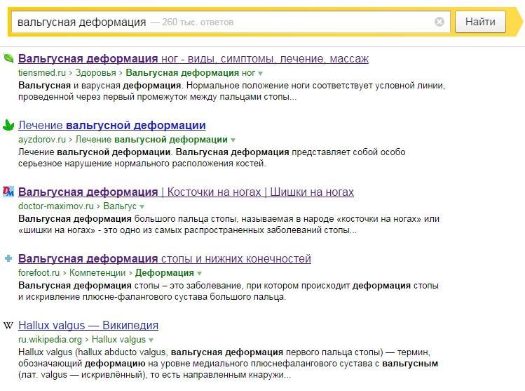 Рис. 2. Поисковая выдача по информационному запросу