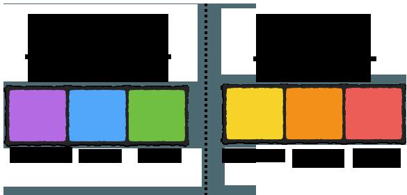 Цвета, запускающие разные типы обработки информации