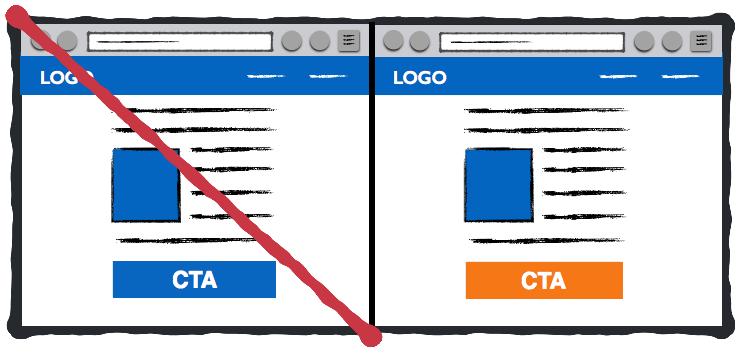 Выбор цвета кнопки СТА