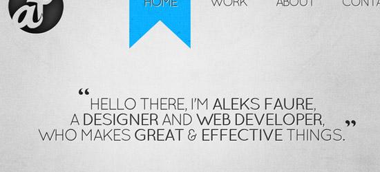 Aleks Faure welcome area