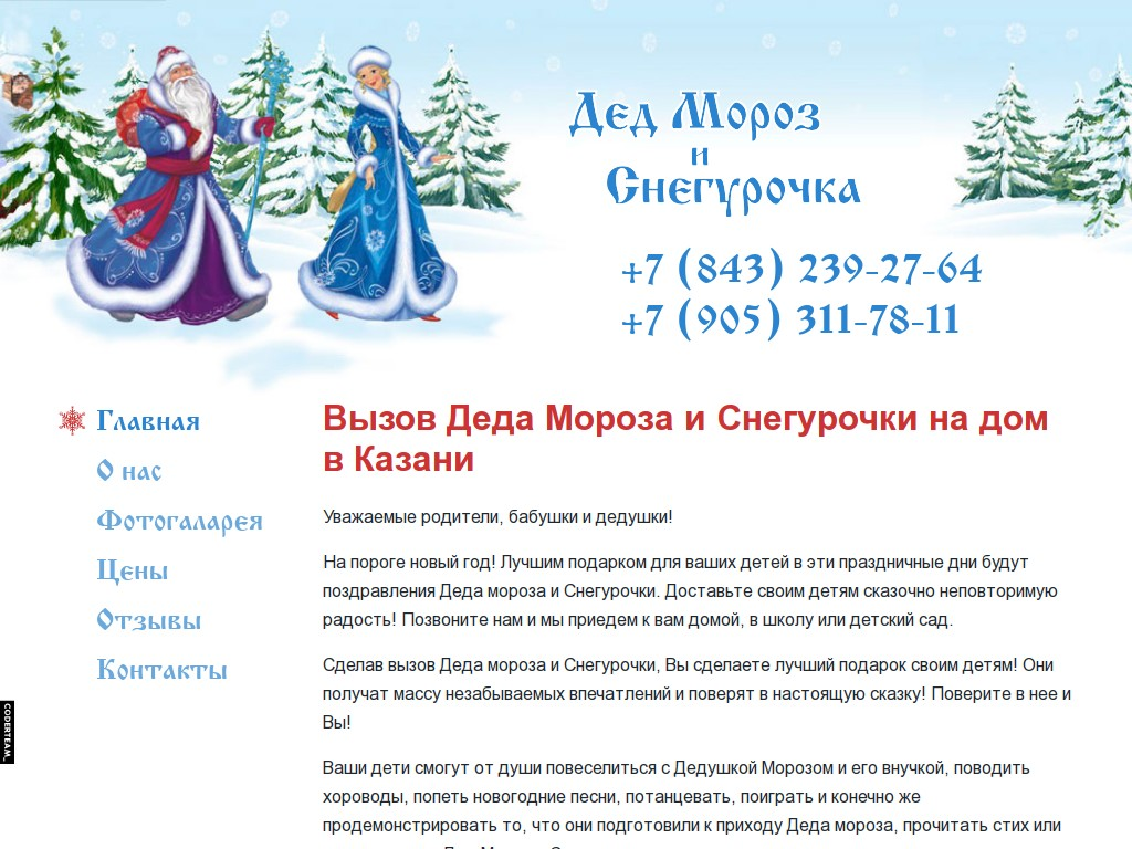Дед Мороз и Снегурочка в Казани